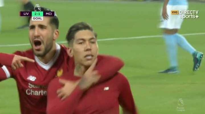 Firmino marcó el segundo del Liverpool
