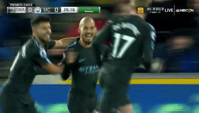 Silva marcó el primero del City