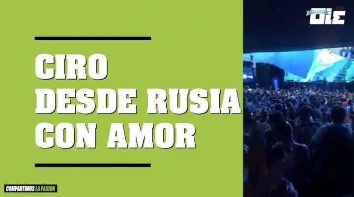 Ciro en el vivo de Olé