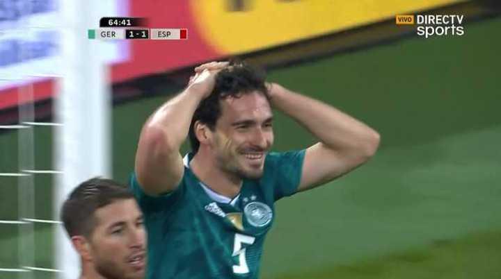 Hummels no pudo meter el segundo de Die Mannschaft
