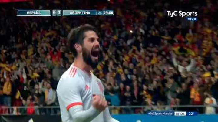 'Sampaliza': Alarma en la prensa argentina tras la goleada de España