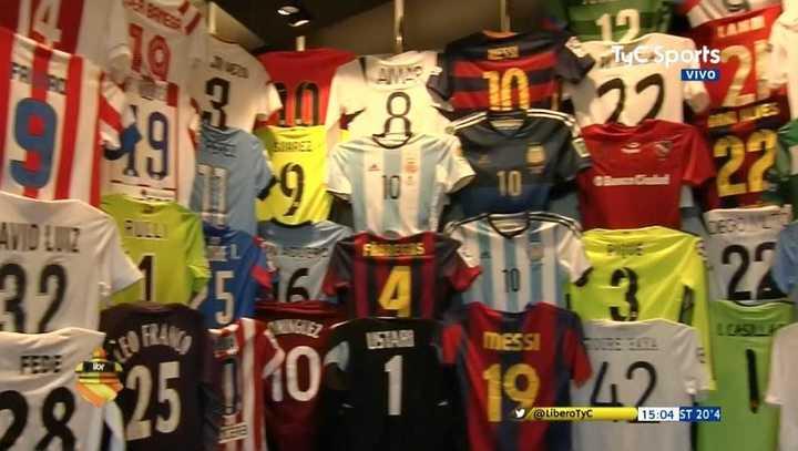 Messi y su colección de camisetas