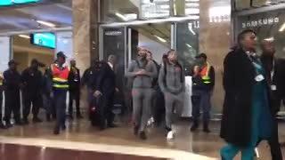 La bienvenida de Sudáfrica al Barsa