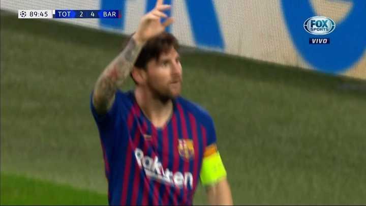 Messi sentenció al Tottenham de Pochettino