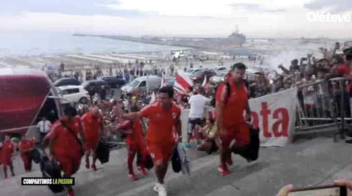 La gente de Mar del Plata recibió a River