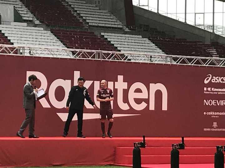 Andrés Iniesta y su presentación en el Vissel Kobe