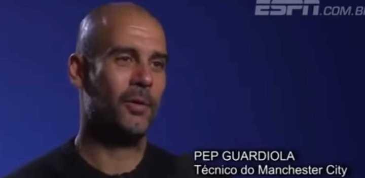 Guardiola hablando, el mes pasado, de dirigir a la Argentina