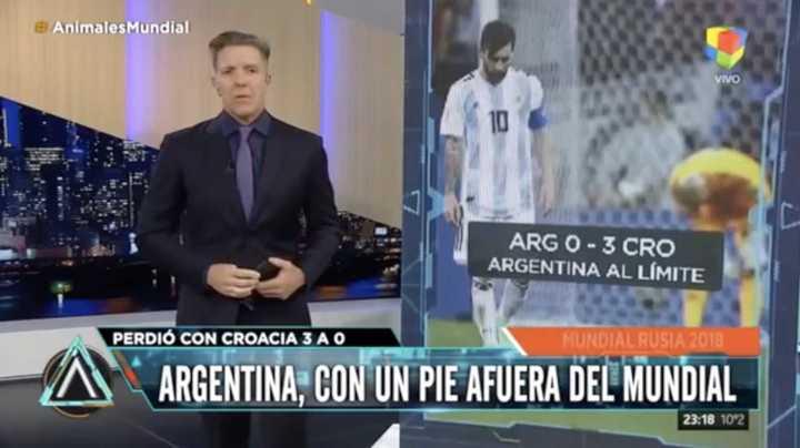 Fantino habló sobre la derrota frente a Croacia