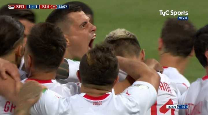 Golazo de Xhaka para el 1 a 1 de Suiza