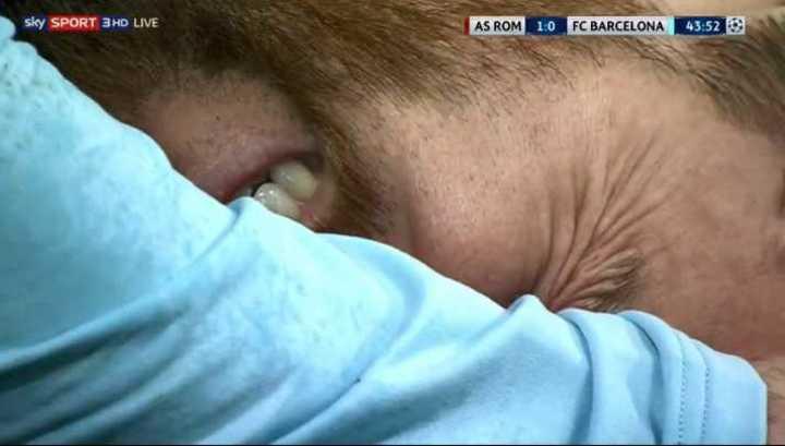 Messi sufrió un patadón de Juan Jesús