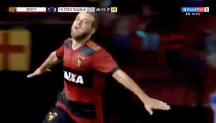 Los goles de Sport Recife al Decano