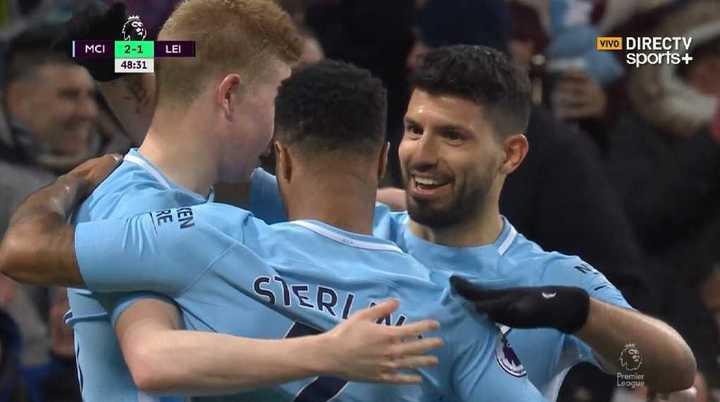 Agüero marcó el 2 a 1 para el Manchester City