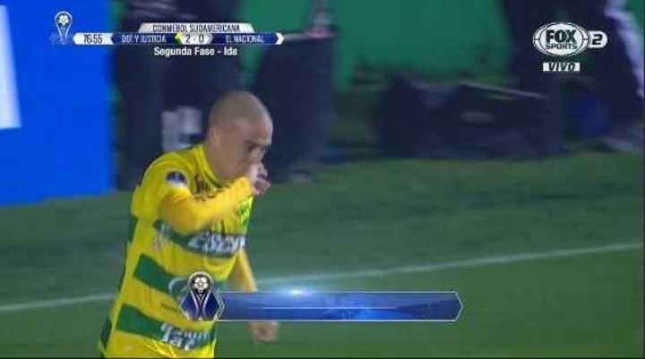 Almeida marcó el segundo de Defensa