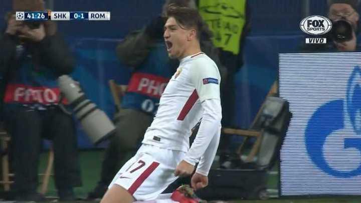 La Roma abrió el marcador