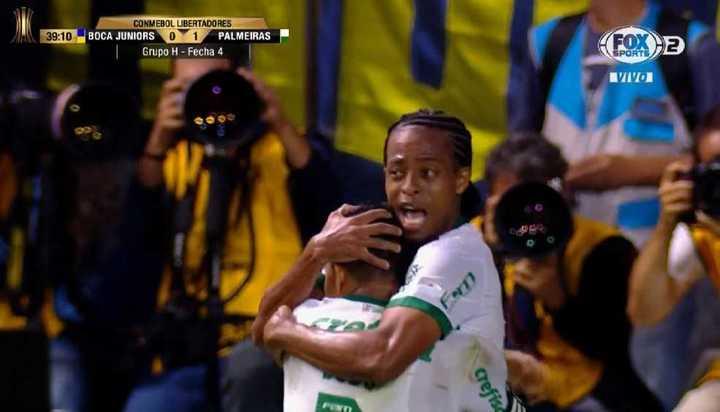 Keno puso el 1 a 0 para Palmeiras