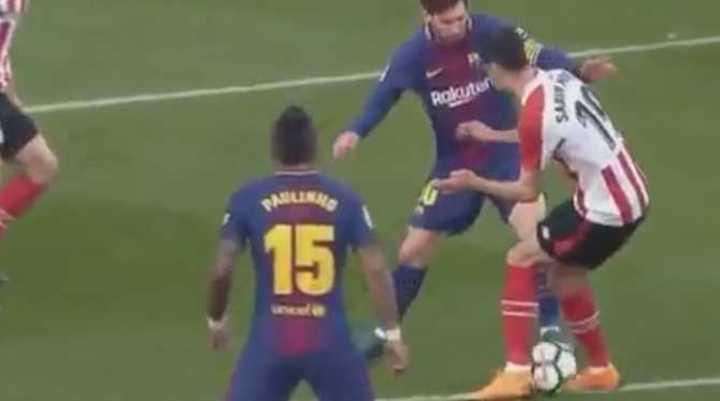El caño de Messi