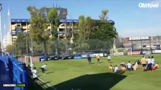 Penales en la práctica de Boca