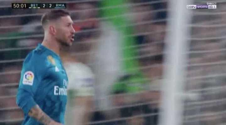 Ramos se elevó para empatarlo