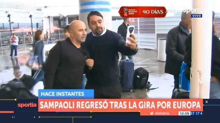 Sampaoli llegó al país