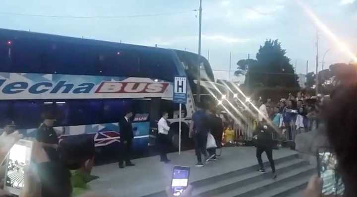 Boca rumbo al estadio