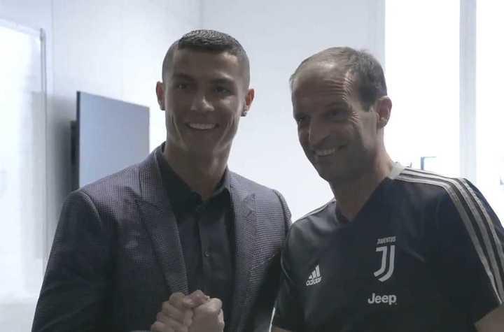 Cristiano en la Juventus.