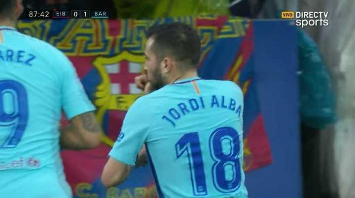 Jordi alba puso el 2 a 0 de Barcelona