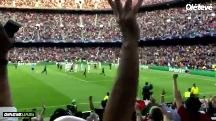 El golazo de Messi, desde adentro