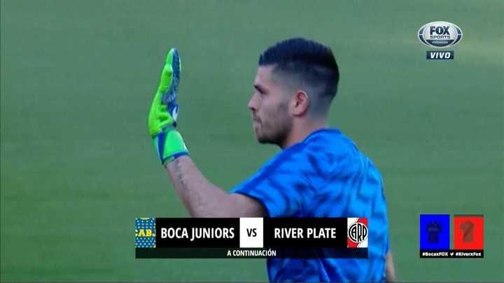 La ovación de la gente de Boca para Agustín Rossi