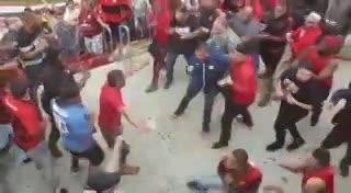 Batalla en la tribunas del Morumbí