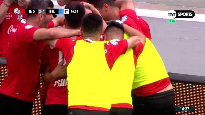 Braian Romero metió el segundo del Rojo