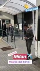 Barcelona partió rumbo a Milán con Messi