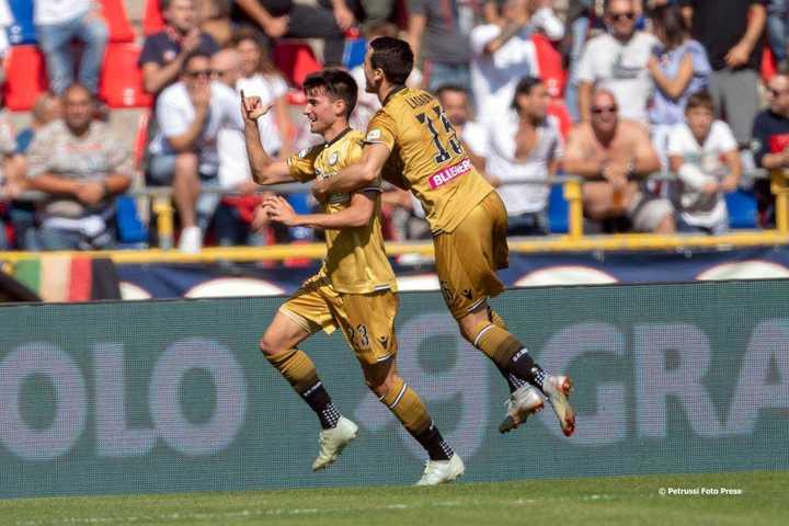 Muy buen gol de Ignacio Pussetto para Udinese