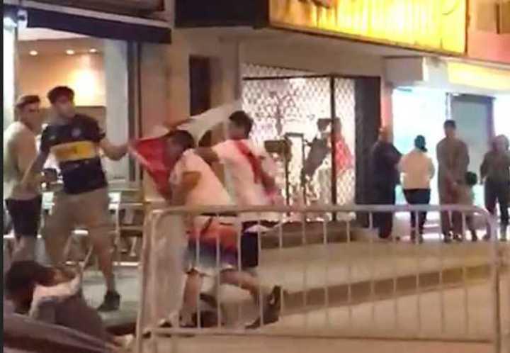 Así fue la pelea por el robo de una bandera en Zárate