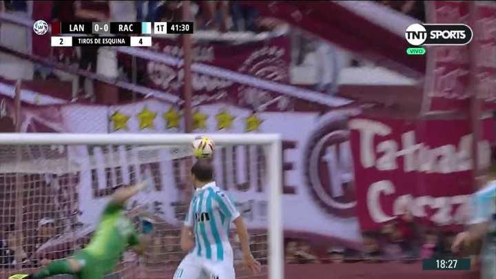De la Vega puso un pelotazo tremendo pero no pudo con Arias