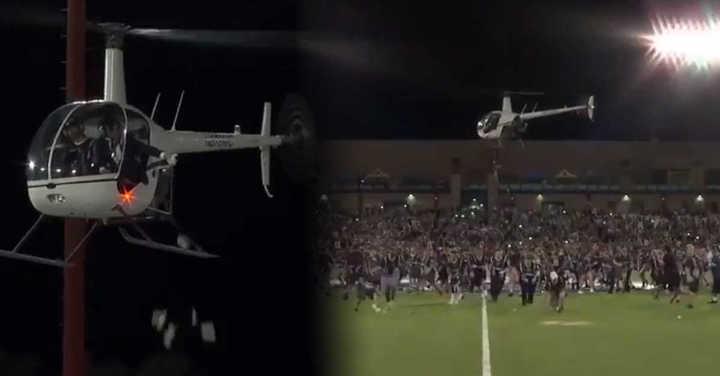 Un club de fútbol arrojó billetes sobre sus hinchas desde un helicóptero