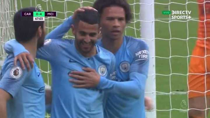 Mahrez puso el 4 a 0 del City
