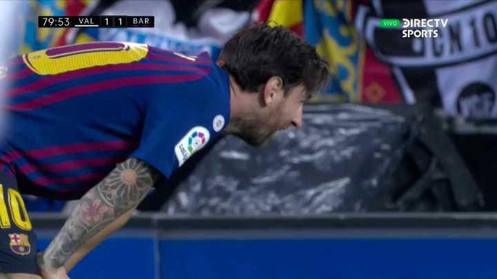 Messi quizo duplicar y no pudo