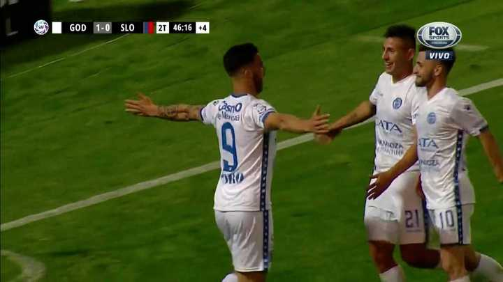 ¡Gol de Godoy Cruz sobre el final!