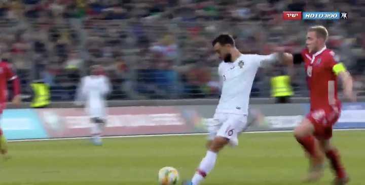 El gol de Bruno Fernandes para abrir el marcador ante Luxemburgo