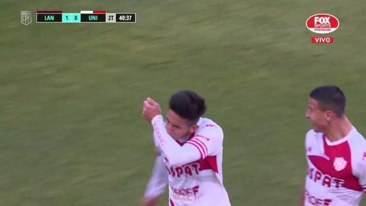 Unión llegó al empate sobre el final del partido