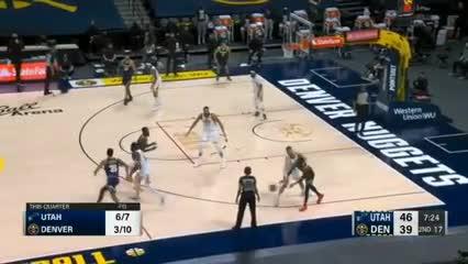 Campazzo en la derrota 109-105 de los Nuggets vs Utah Jazz