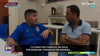 Maradona duro contra Riquelme