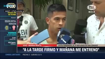 Las declaraciones de Uvita Fernández tras la revisión médica en San Lorenzo
