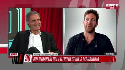 La anécdota de cómo Del Potro conoció a Diego en 2007
