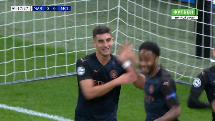 El City arriba tras el gol de Ferran Torres