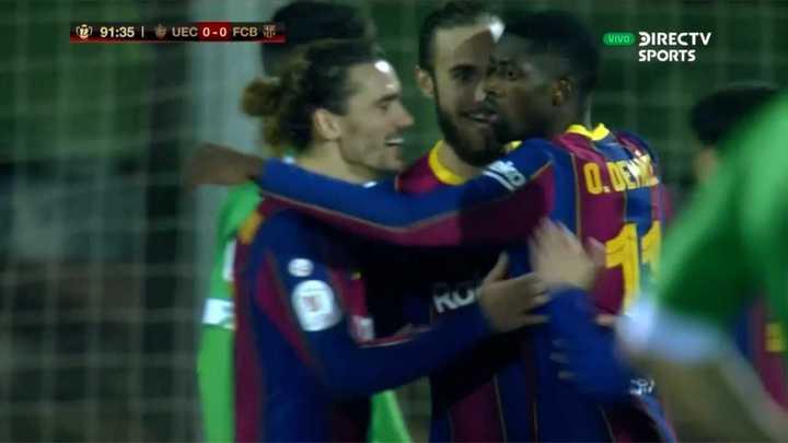 Dembélé metió un bombazo para el primero de Barcelona