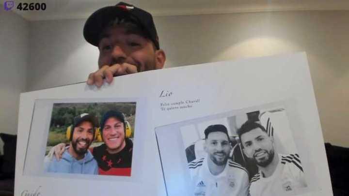Agüero mostró el mensaje de Messi para su cumple