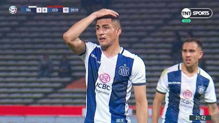 El gesto de Méndez antes del gol