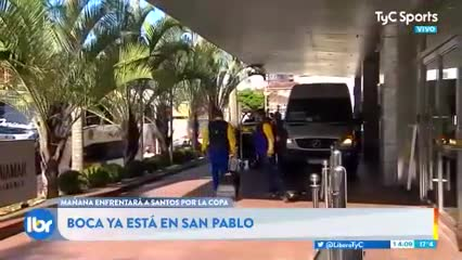 Boca ya está en Brasil (TyC Sports)