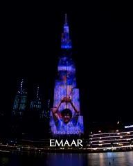El homenaje a Maradona en Emiratos Arabes